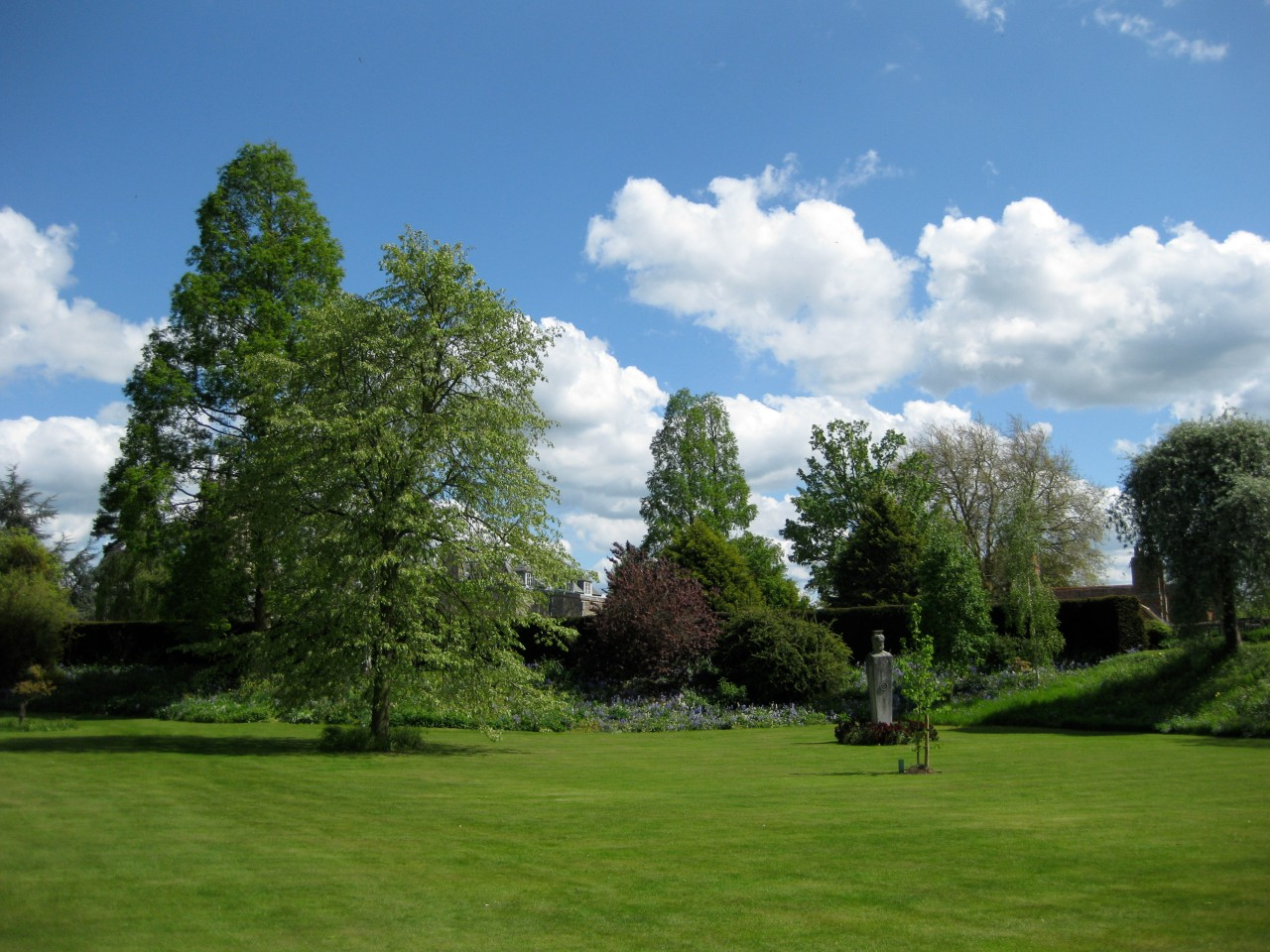 Our theatre: looking towards the Herm in Merton Fellows' Gardens