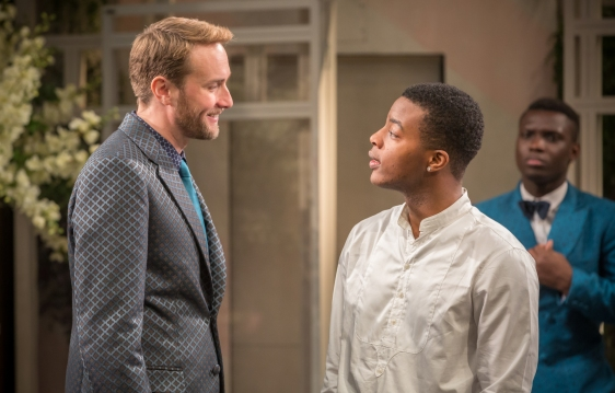 Twelfth Night - Oliver Chris as Orsino, Daniel Ezra as Sebastian, image by Marc Brenner.jpg